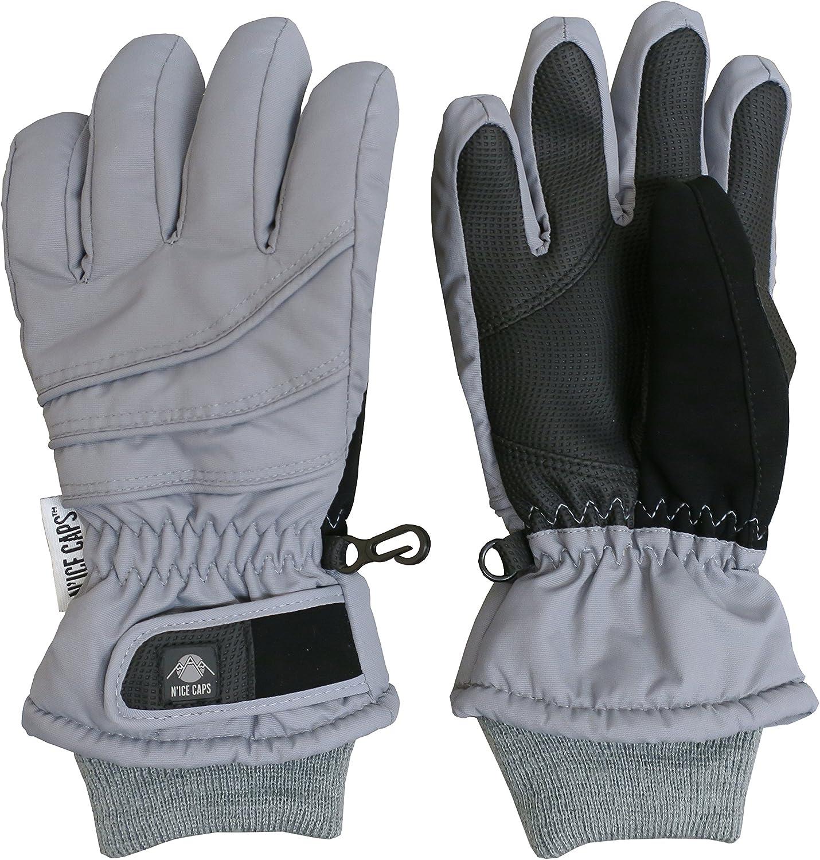 NIce Caps Kinder Sperrige Thinsulate und Wasserdichte Winterhandschuh Normallack f/ür Jungen und M/ädchen