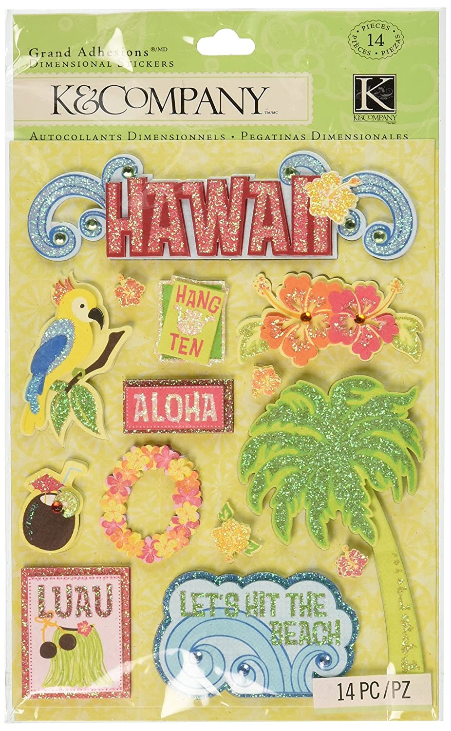 K and Company Citronella Hawaii Grand Adhesions Stickers