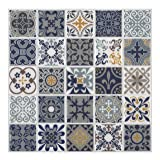 Tic Tac Tiles 10-Sheet Peel and Stick Self Adhesive Removable Stick On Kitchen Backsplash Bathroom 3D Wall Sticker Wallpaper Tiles in Moroccan Rano