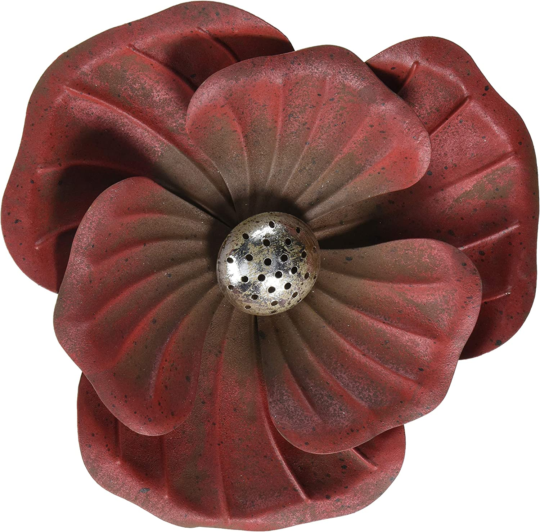 Regal Art & Gift 12111 Flower Rustic Red Garden Stake