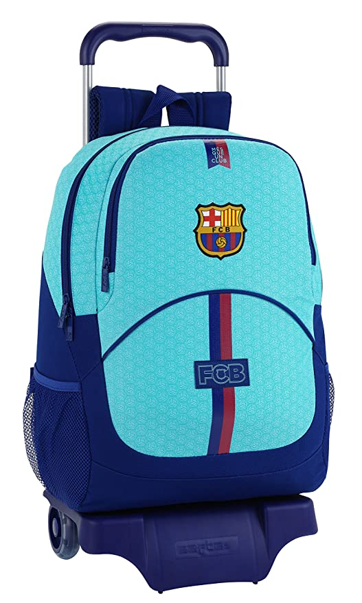Safta Mochila FC Barcelona 2ª Equipacion 17/18 Oficial Escolar Con Carro Safta 330x150x430mm
