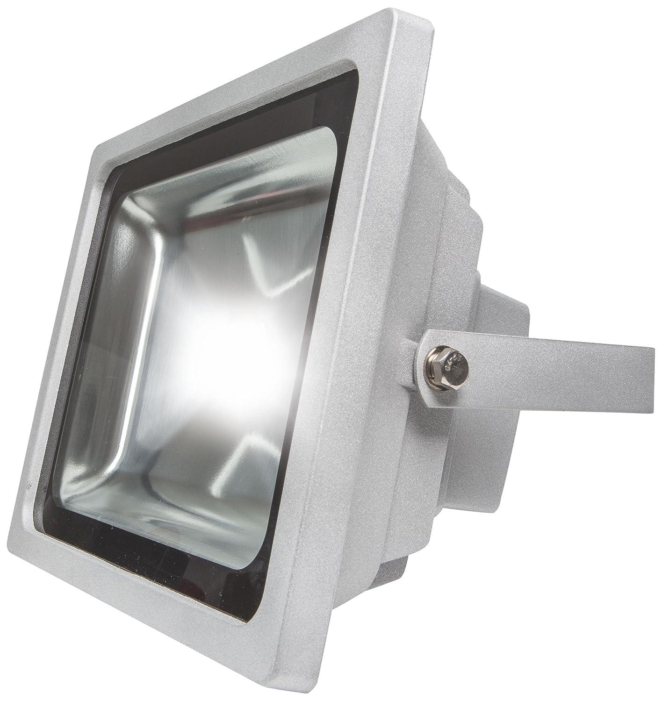 as - Schwabe Chip-LED-Strahler 50 W, geeignet für Außenbereich, Gewerbe, silber, 46905