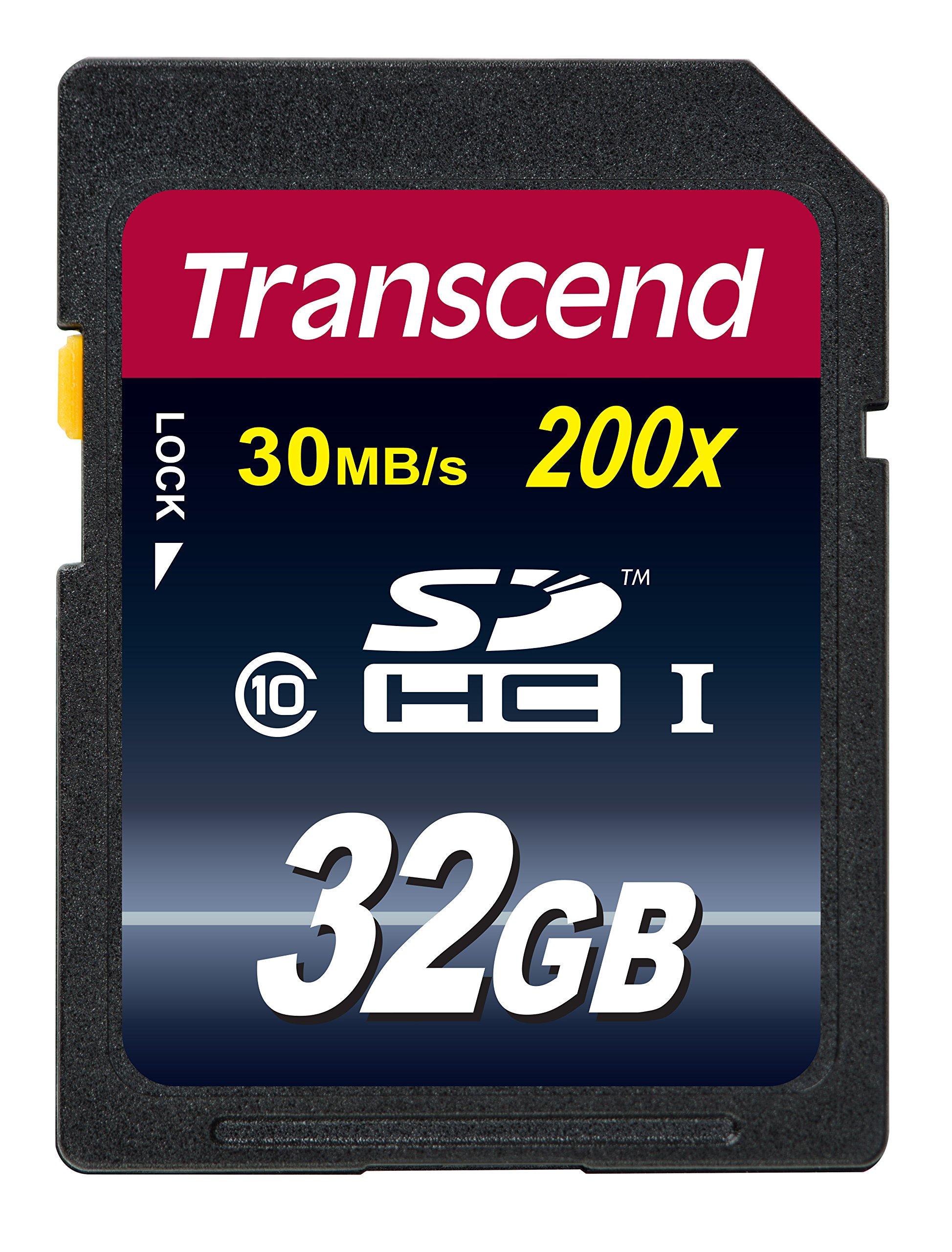 Transcend 32 GB Class 10 SDHC Flash Memory Card (TS32GSDHC10E) by Transcend