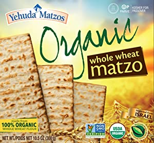 Yehuda 100% Organic Whole Wheat Matzo 10.5oz