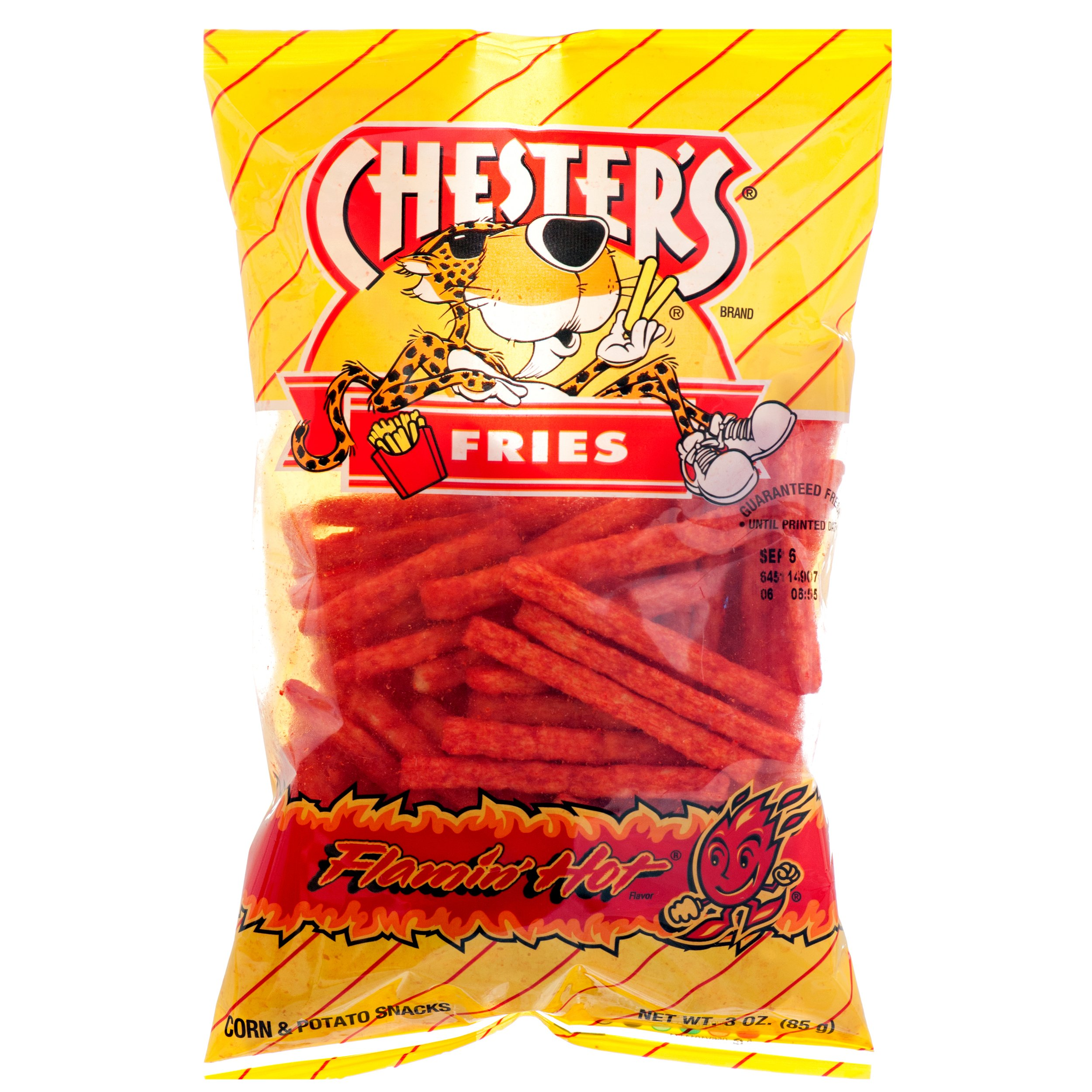 Chester's Fries Flamin' Hot Spicy Flavor - 3 oz Bag - Family Pack - 3 PACK