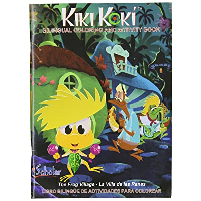 iScholar Kiki Koki Bi-Lingual Coloring and Activity Book, 96 Sheets, Style May Vary (61096): Office Products