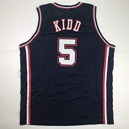 the best attitude ec5fe 2ab71 Unsigned Jason Kidd New Jersey Blue Custom Stitched ...