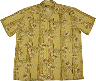 product image for Paradise Found Mens Hibiscus Bamboo Panel Shirt