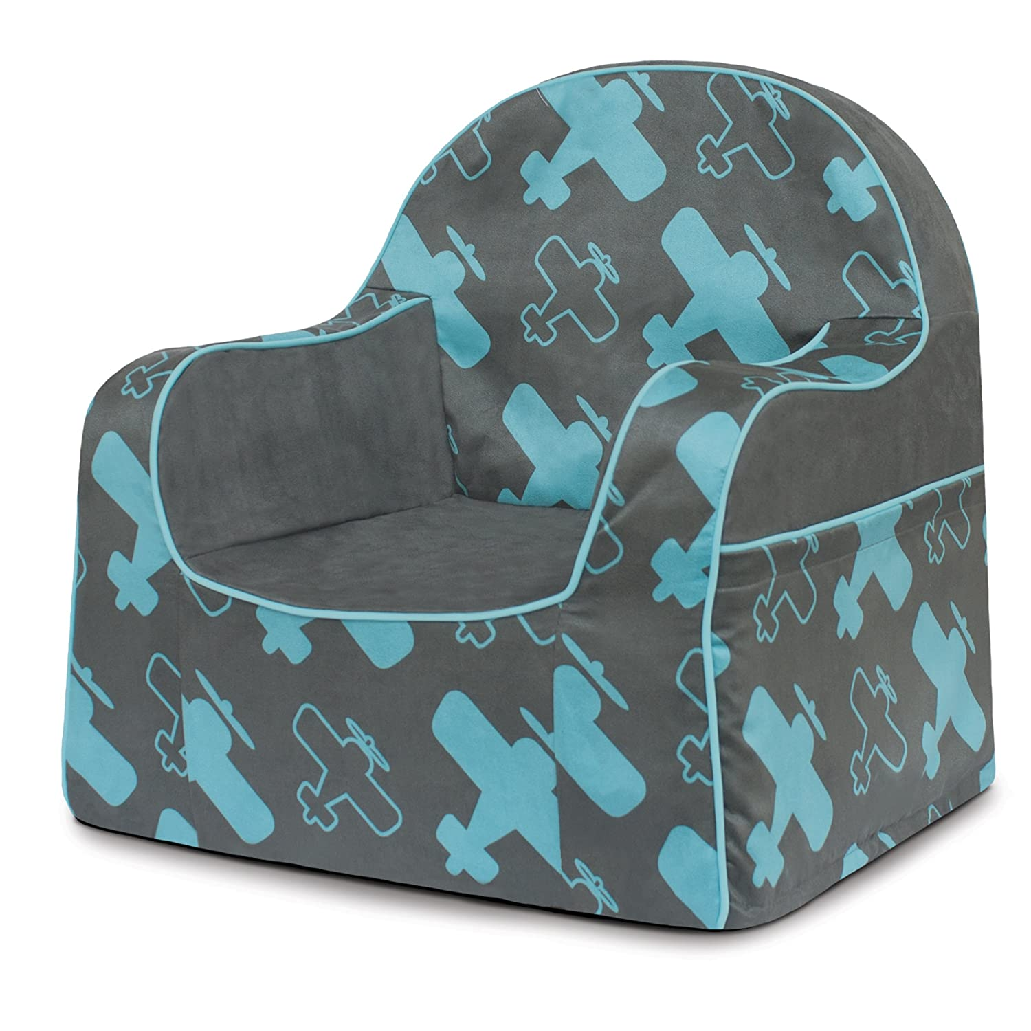 P'kolino PKFFLRBP Little Reader Chair - Planes, Blue/Grey P' kolino