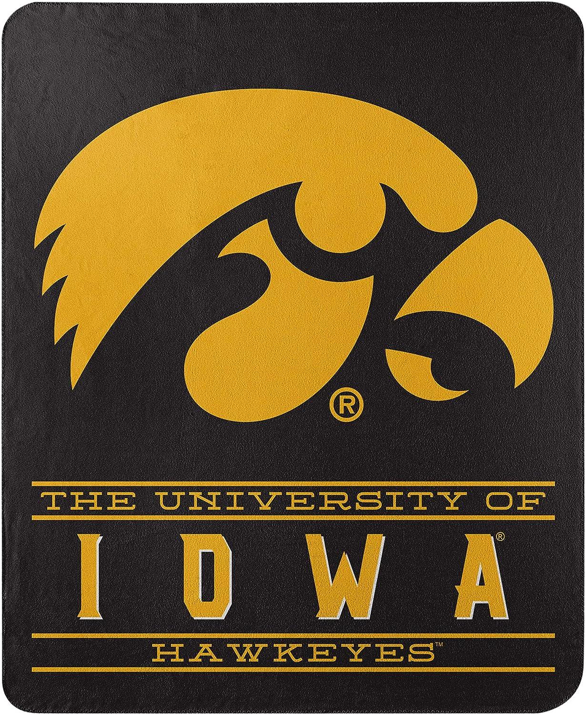 One Size Northwest NCAA Iowa Hawkeyes 50x60 Fleece Control DesignBlanket Team Colors