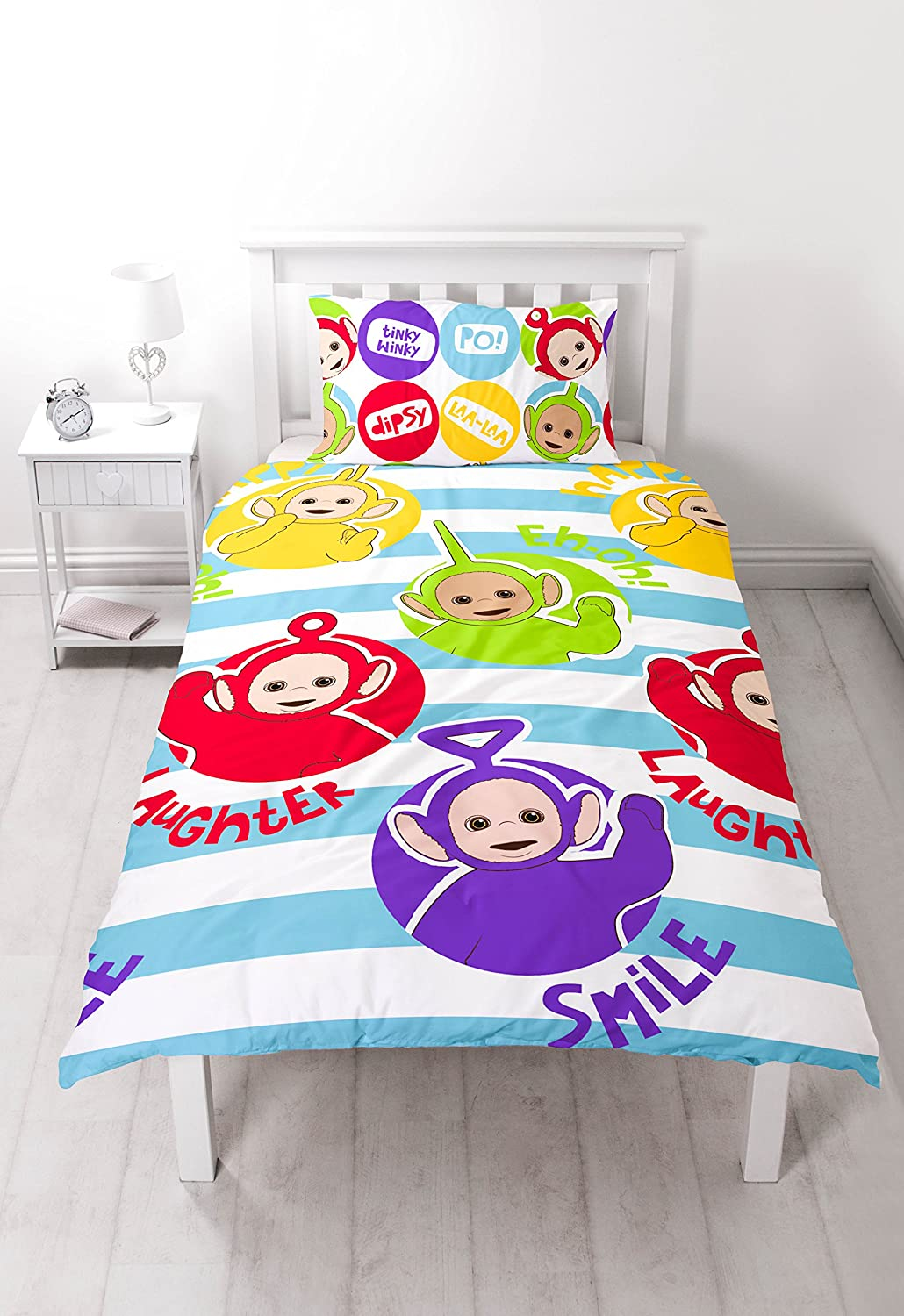 Teletubbies Playtime Set Copripiumino Singolo/  Design Stampato ripetitivo