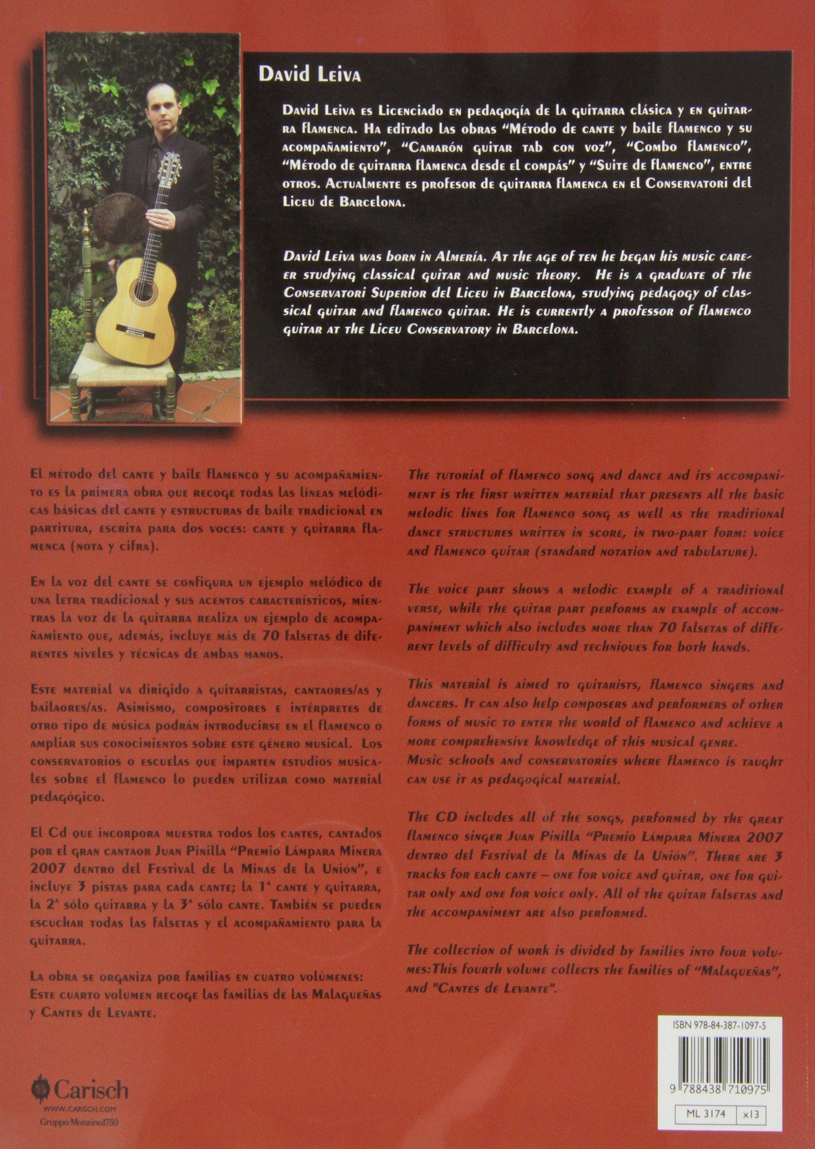CANTE Y BAILE FLAMENCO V.4+CD Carisch Music Lab Spagna: Amazon.es ...