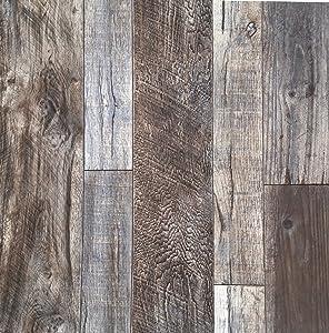 "Blooming Wall Barnwood Wood Panel Wood Plank Wallpaper Wall Mural for Livingroom Kitchen Bathroom Bedroom,20.8"" x 374"", Multicolor"