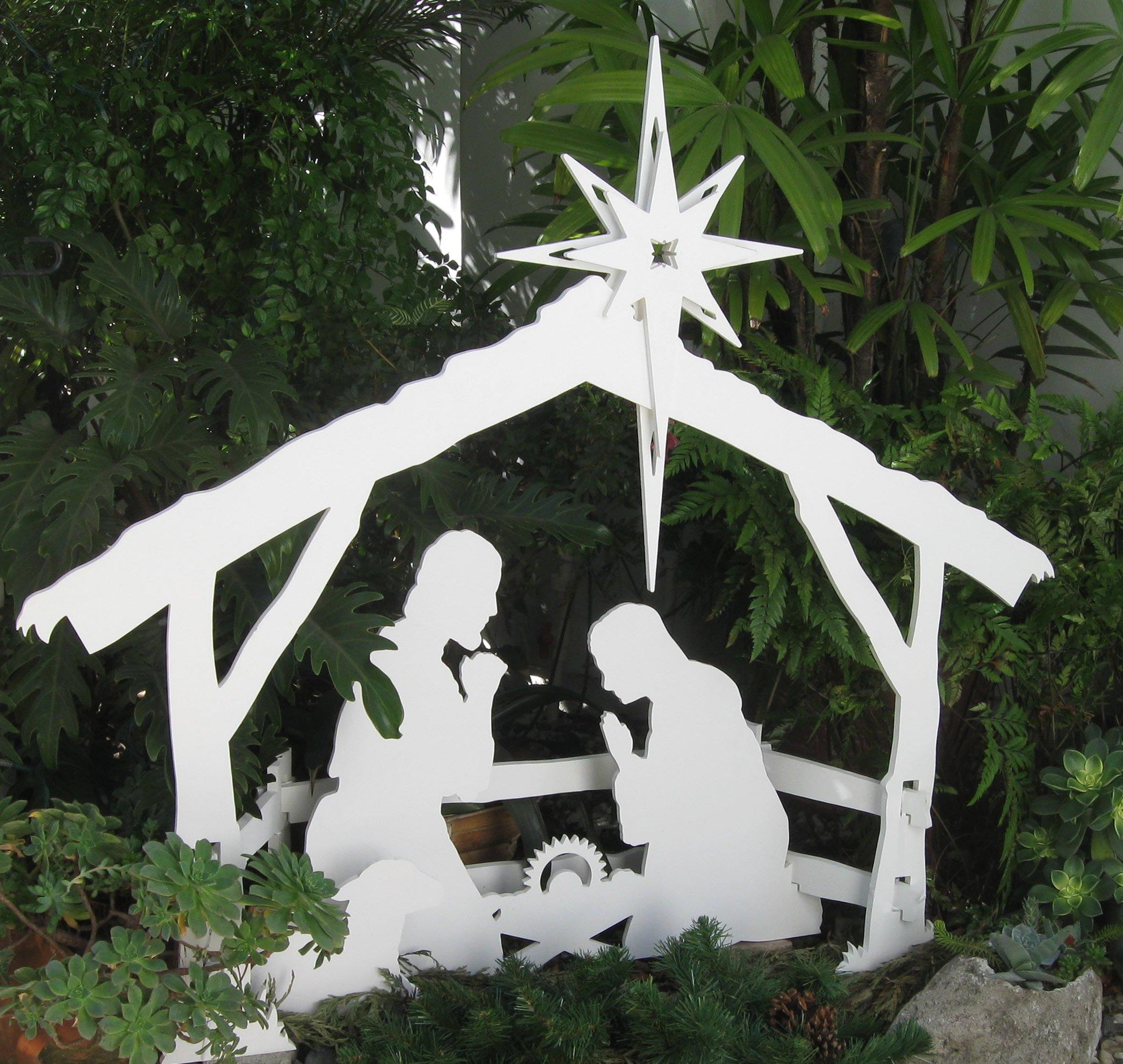 MyNativity Outdoor Christmas Nativity Set, Medium by MyNativity