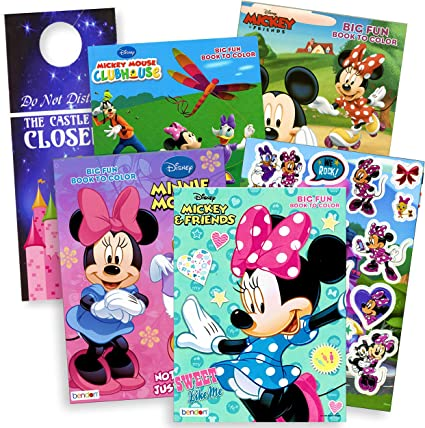 - Amazon.com: Bendon Publishing Minnie Mouse Coloring Books Stickers Door  Hanger (Minnie Mouse 4-Pack): Toys & Games
