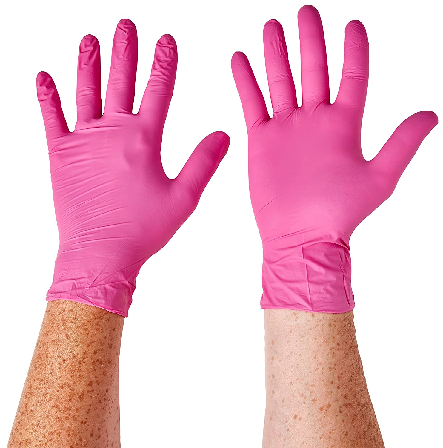 Aurelia SUPL78887 Blush, Nitrile Gloves, Size: Box of 200, 9.44' Height, 2.75' Wide, 4.72' Length, Nitrile, Medium, Pink (Pack of 200) 9.44 Height 2.75 Wide 4.72 Length Supermax Healthcare Inc.