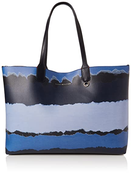 Iconic Tote Print, Womens Shoulder Bag, Blue (Tie Dye), 14x31.5x42.5 cm (B x H T) Tommy Hilfiger