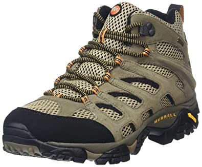 Amazon.com | Merrell Men's Moab Mid Gore-Tex Hiking Boot | Hiking ...