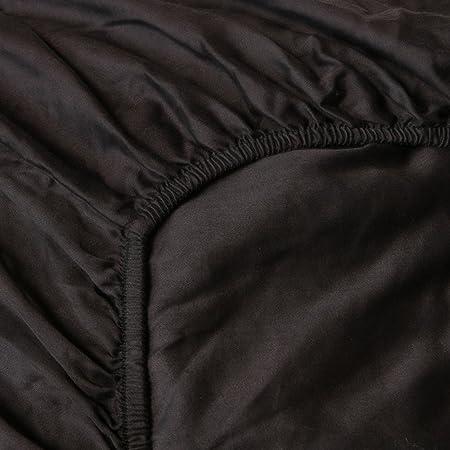 Heckett Lane Sábana Bajera Ajustable 100% algodón Mako Satén 90 x ...