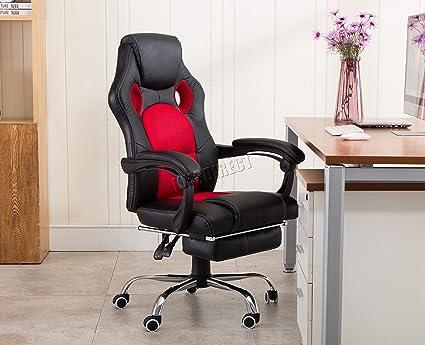 Foxhunter ordinateur bureau exécutif chaise de bureau simili cuir