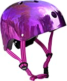 Micro Safety Helmet: Mirrored Purple (Small) 48-52cm