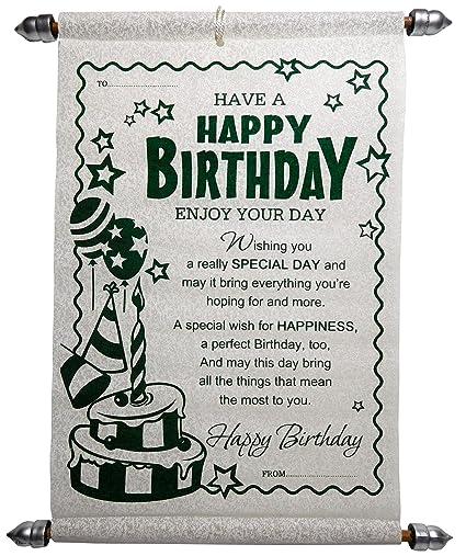 Siddhi Gifts Happy Birthday Scroll Greeting Card