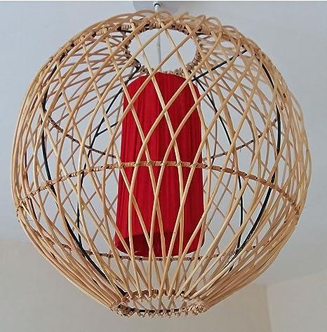 Unusual mimbre jaula de pájaros - Tulipa de lámpara de techo ...