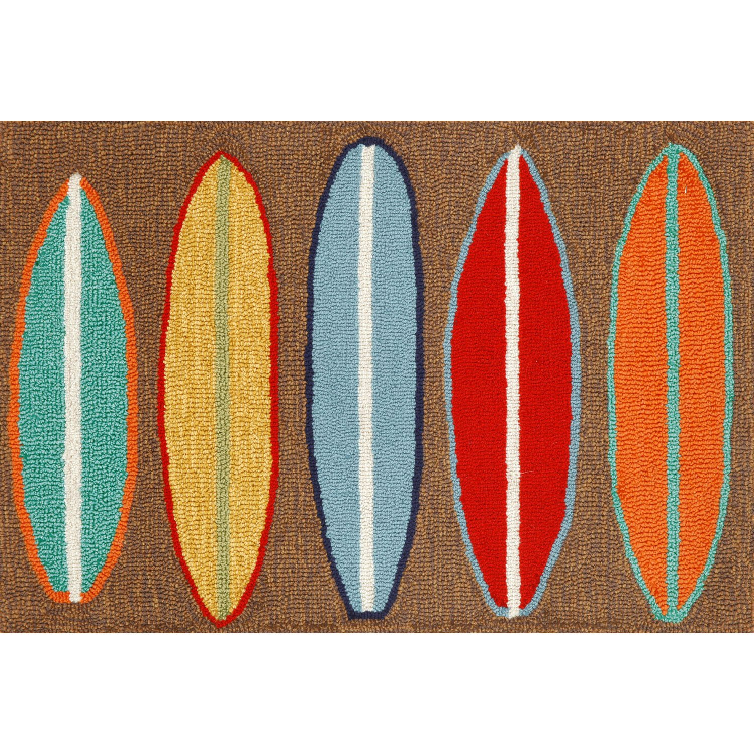 Liora Manne FT112A93319 Whimsy Beach Boards Rug, 20x 30, Brown 20x 30 The Trans Ocean Group