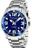 Stuhrling Original Men's 395.33U16 Aquadiver Regatta Analog Swiss Quartz Stainless Steel Link Bracelet Watch