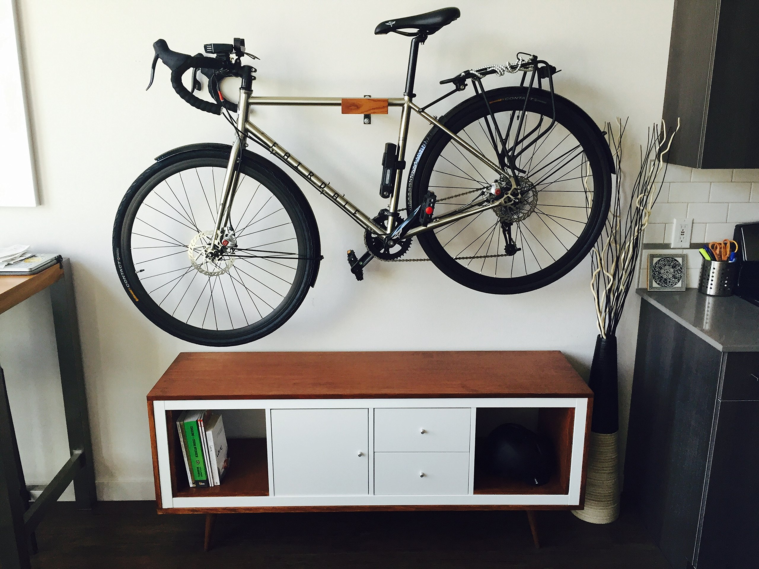 Ash and Steel Indoor Bicycle Wall Mount Hanger Rack by Well Hung Bicycles (Image #5)