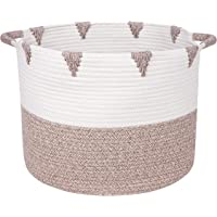 We Care Vida Storage Baskets - Decorative Blanket Basket for Living Room - Made from Natural Cotton Woven Rope - Toy…