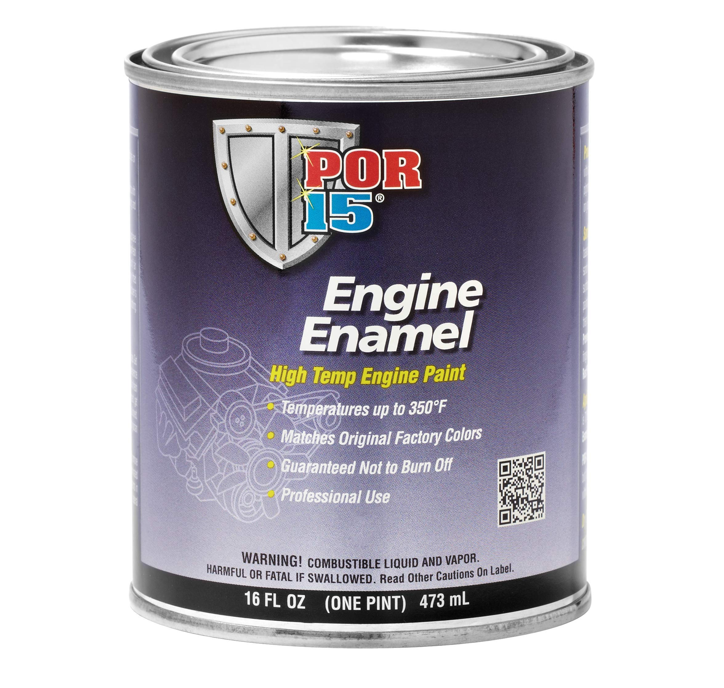POR-15 42008 Aluminum Engine Enamel - 1 Pint