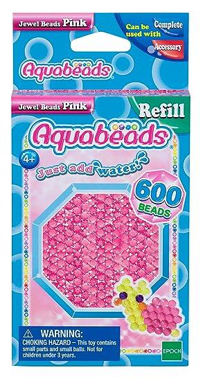Aquabeads 32728 Glitzerperlen Bastelperlen nachf/üllen pink
