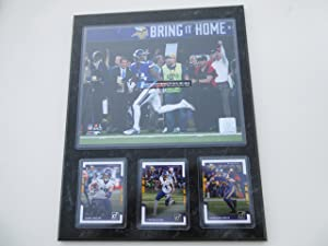 STEPHON DIGGS MINNESOTA VIKINGS MINNEAPOLIS MIRACLE CATCH BRING IT HOME 1-14-2018 PHOTO PLUS 3 CARDS MOUNTED ON A