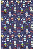 Catherine Lansfield Robots Eyelet Curtains, Polyester-Cotton, Multi-Colour, 66 x 72-Inch