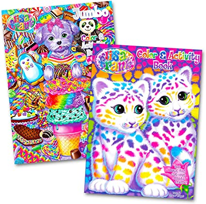 Amazon.com: Lisa Frank Coloring And Activity Book Set (2 Books): Toys &  Games