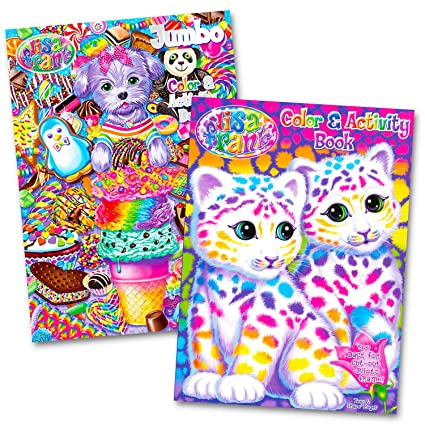 Amazon.com: Lisa Frank Coloring And Activity Book Set (2 Books - 96 ...
