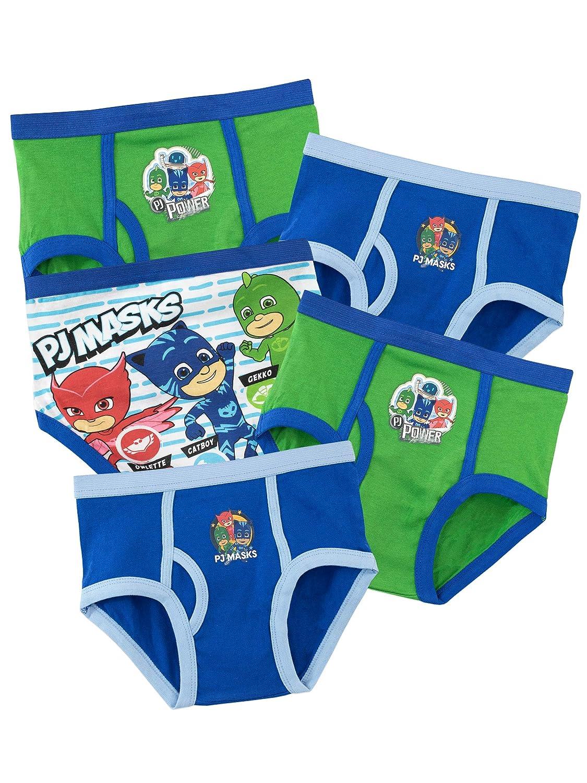 PJ Masks Biancheria Intima delle Ragazzi Super Pigiamini Confezione da 5