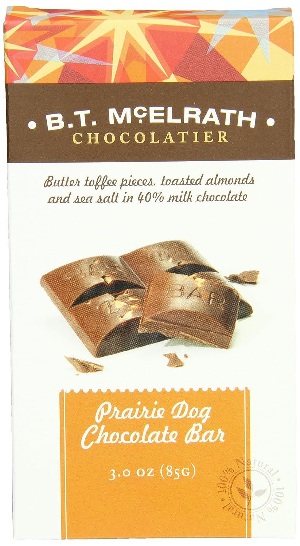 amazon com b t mcelrath chocolate bar 40 prairie dog 3 ounce