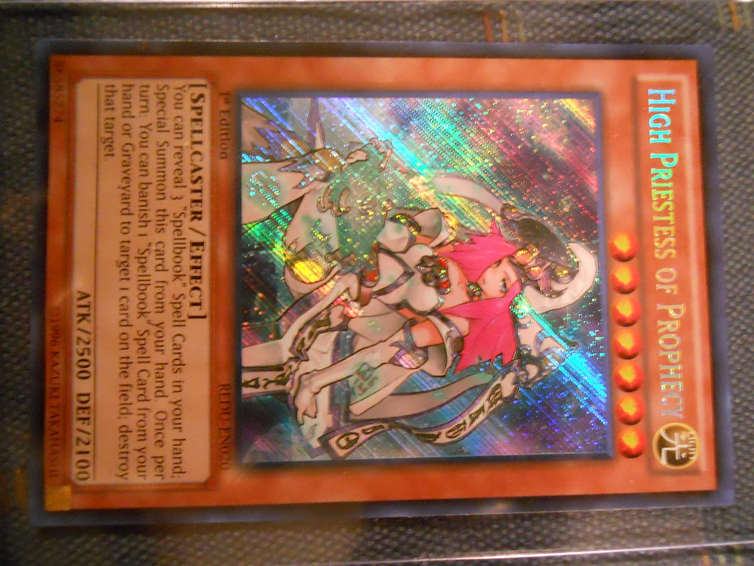 Yu-Gi-Oh! - High Priestess of Prophecy (REDU-EN020) - Return of the Duelist  - 1st Edition - Secret Rare