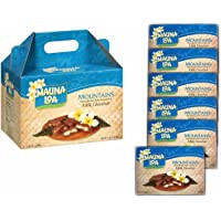 Mauna Loa Mountains, Chocolate Covered Macadamia Nuts in Milk Chocolate (6 Individually Wrapped Boxes in Carrying Case)