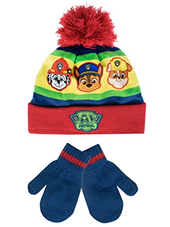 346e5d1c5572a Paw Patrol Boys Paw Patrol Hat and Gloves Set Multicoloured One Size   Amazon.co.uk  Clothing