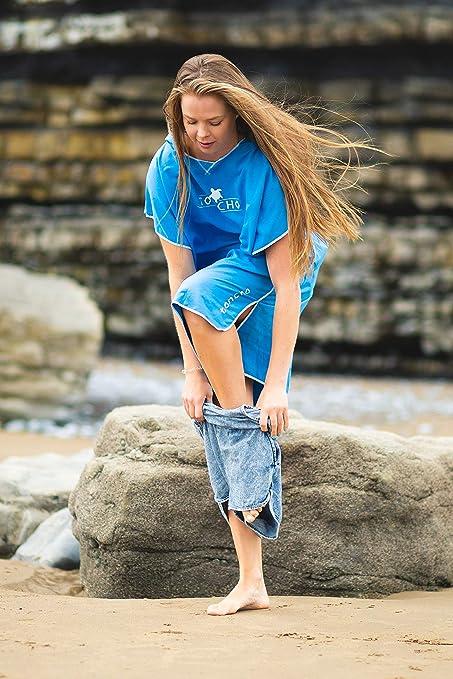 Cambiarsi Poncho con Cappuccio Unisex Microfibra Sport per Cambiarsi in Palestra Piscina Spiaggia Mare Running Bike Outdoor Albero di Cocco,75 * 110cm Surwin Poncho con Cappuccio Asciugamano