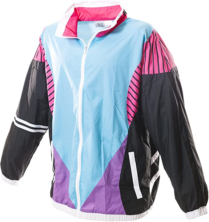 Vintage Coats & Jackets | Retro Coats and Jackets Funny Guy Mugs 80s & 90s Retro Windbreakers $49.99 AT vintagedancer.com