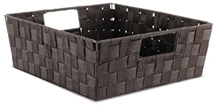 Whitmor Woven Strap Shelf Storage Tote Basket - Espresso  sc 1 st  Amazon.com & Amazon.com: Whitmor Woven Strap Shelf Storage Tote Basket - Espresso ...