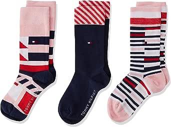 Tommy Hilfiger Th Kids Pen Giftbox 3p Calcetines, Rosa (Pink Combo 174), Talla única (Talla del fabricante: 027) (Pack de 3) para Niñas: Amazon.es: Ropa y accesorios