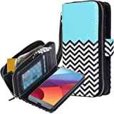 LG G6 case, E LV LG G6 Case Cover - PU Leather Flip Folio Wallet Purse Case Cover for LG G6 (2017) - [ZIGZAG]