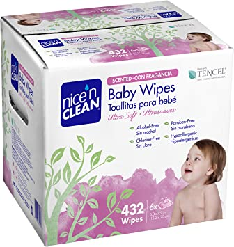 Nice n Clean Baby Wipes, Scented, 432 Count