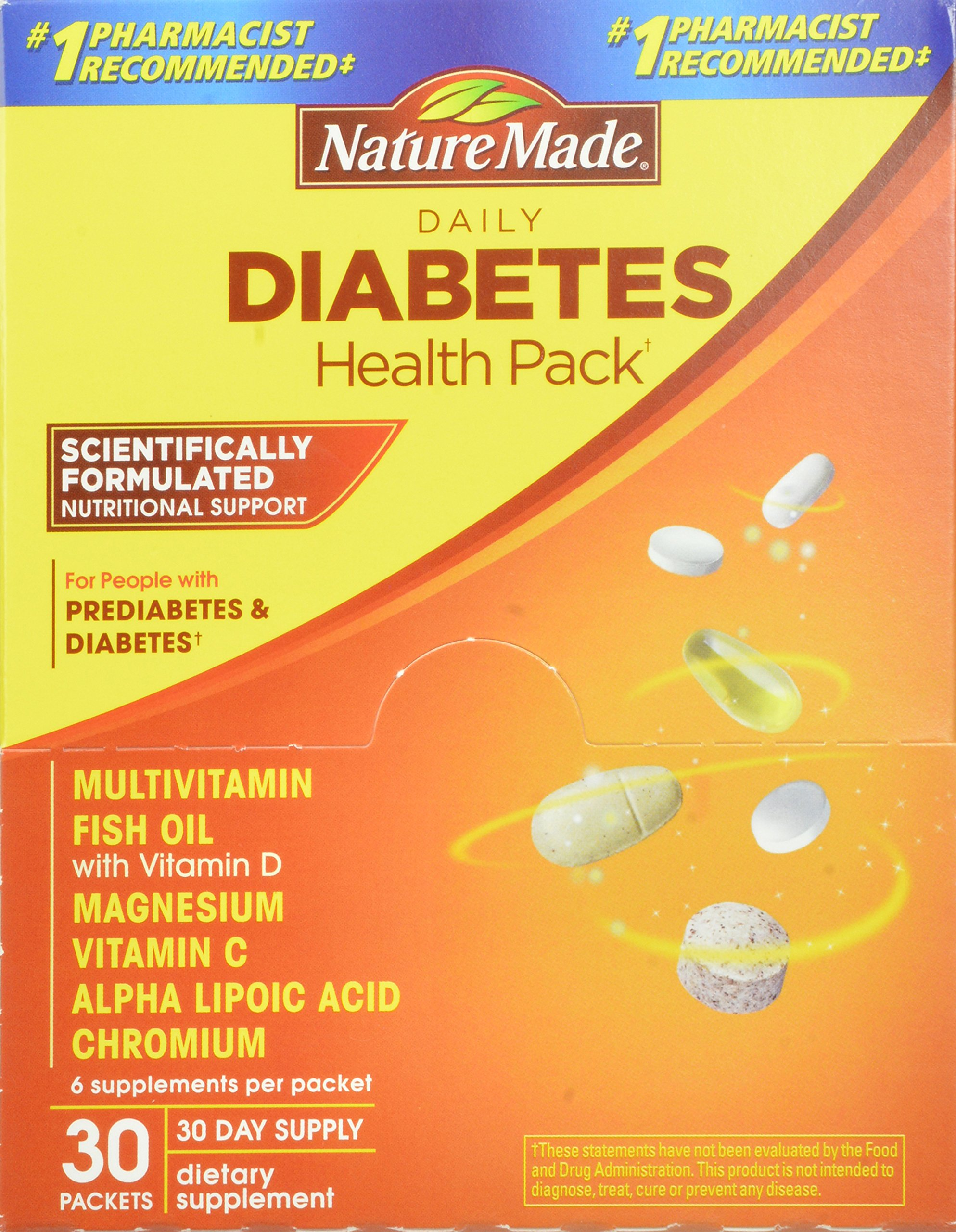 Nature Made Diabetes Health Pack  Packets