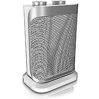 Brandson - Heizlüfter mit zwei Leistungsstufen | stufenlose Temperaturregelung | Keramik Heizelement | Überhitzungsschutz | Thermosicherung | Umkippschutz | Heizung Heater | GS-zertifiziert
